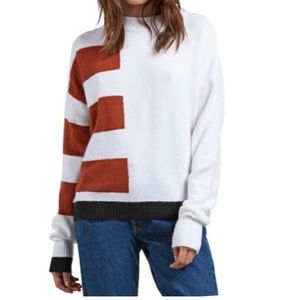 Volcom Cold Stripe Sweater, Size Large